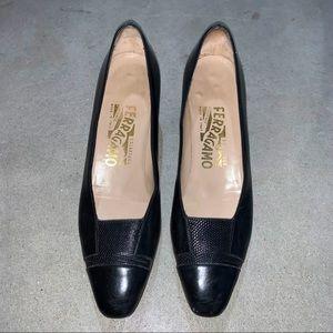 Salvatore Ferragamo Black Leather Shoes